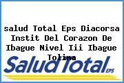 <i>salud Total Eps Diacorsa Instit Del Corazon De Ibague Nivel Iii Ibague Tolima</i>