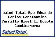 <i>salud Total Eps Eduardo Carlos Constantino Carrillo Nivel Ii Bogota Cundinamarca</i>