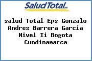<i>salud Total Eps Gonzalo Andres Barrera Garcia Nivel Ii Bogota Cundinamarca</i>