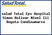 <i>salud Total Eps Hospital Simon Bolivar Nivel Iii Bogota Cundinamarca</i>