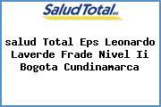 <i>salud Total Eps Leonardo Laverde Frade Nivel Ii Bogota Cundinamarca</i>