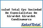 <i>salud Total Eps Sociedad De Especialistas De Girardot Girardot Cundinamarca</i>