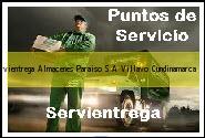 Teléfono y Dirección Servientrega, Almacenes Paraiso S.A., Villavo, Cundinamarca