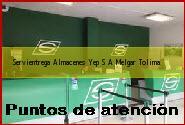 Teléfono y Dirección Servientrega, Almacenes Yep S.A., Melgar, Tolima