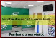 Teléfono y Dirección Servientrega, Almacenes Yep S.A., Sogamoso, Boyaca