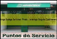 Teléfono y Dirección Servientrega, Bodega Surtimax Prado Veraniego, Bogota, Cundinamarca