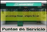 Teléfono y Dirección Servientrega, Bosque, Cartagena, Bolivar