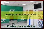Teléfono y Dirección Servientrega, Cajica Cra 6, Cajica, Tolima