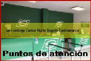 Teléfono y Dirección Servientrega, Canton Norte, Bogota, Cundinamarca