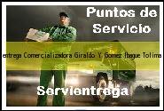 Teléfono y Dirección Servientrega, Comercializadora Giraldo Y Gomez, Ibague , Tolima