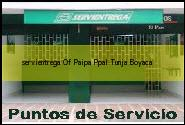 <i>servientrega Of Paipa Ppal</i> Tunja Boyaca