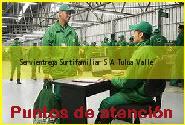Teléfono y Dirección Servientrega, Surtifamiliar S.A., Tulua, Valle