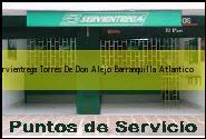 Teléfono y Dirección Servientrega, Torres De Don Alejo, Barranquilla, Atlantico