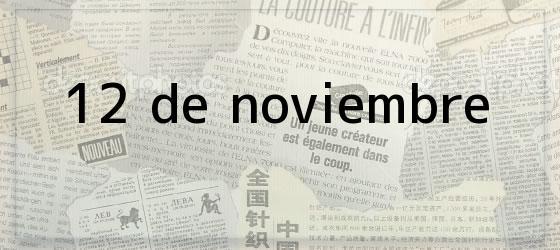 12 de noviembre
