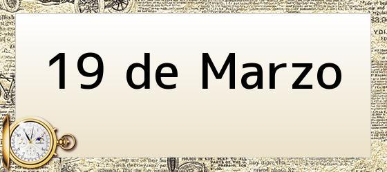 19 de Marzo