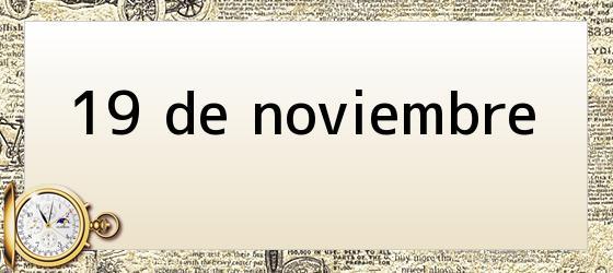 19 de noviembre