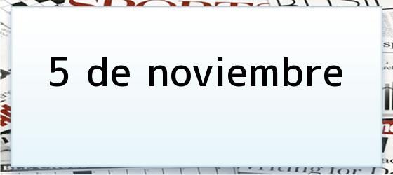 5 de noviembre