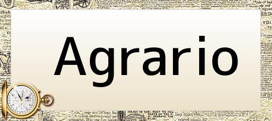 Agrario