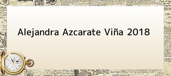 Alejandra Azcarate Viña 2018