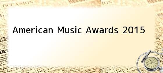 American Music Awards 2015