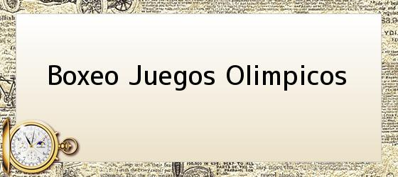 Boxeo Juegos Olimpicos