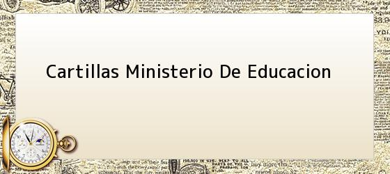 Cartillas Ministerio De Educacion