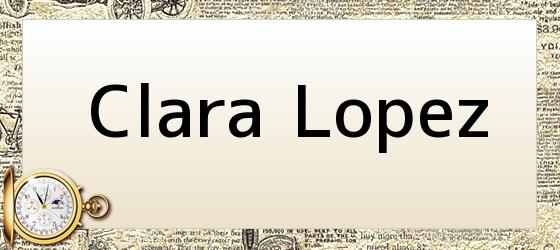 Clara Lopez
