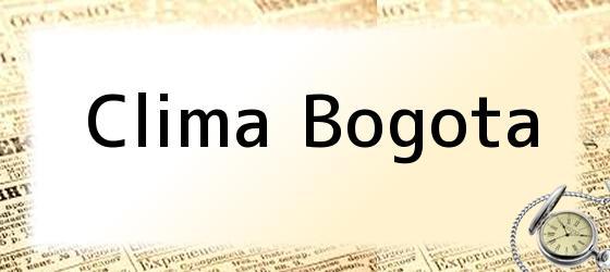 Clima Bogota