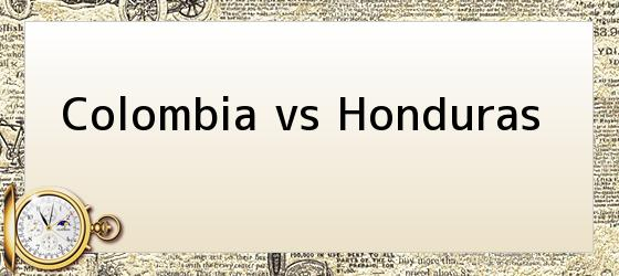 Colombia vs Honduras