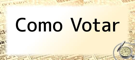 Como Votar