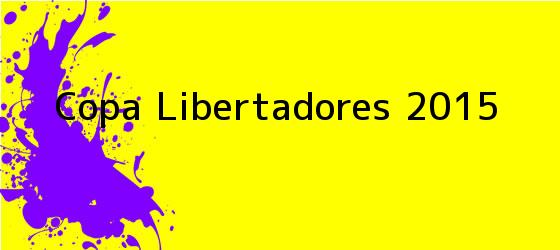 <b>Copa Libertadores 2015</b>