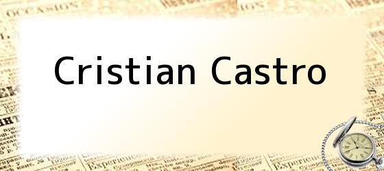 <i>Cristian Castro</i>