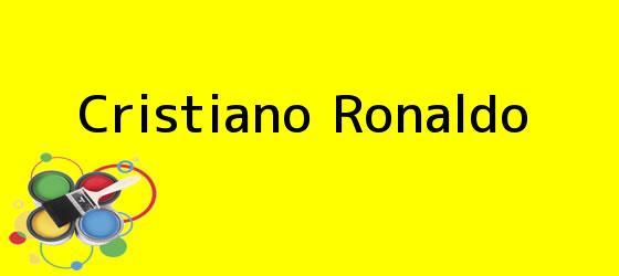 <i>Cristiano Ronaldo</i>