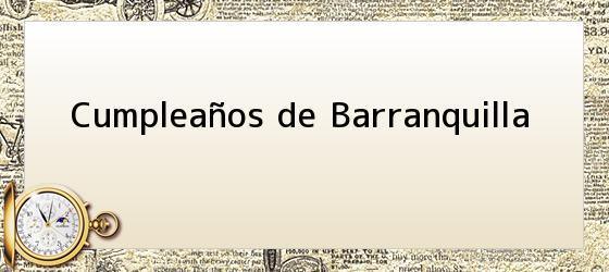 Cumpleaños De Barranquilla