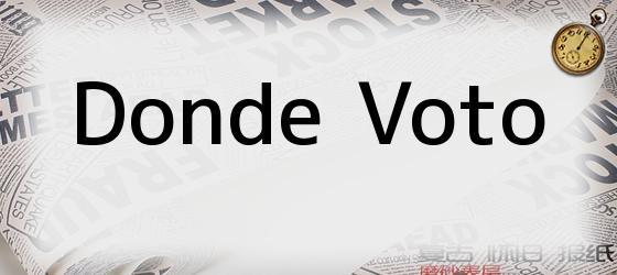 Donde Voto