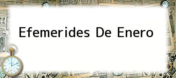 Efemerides De Enero