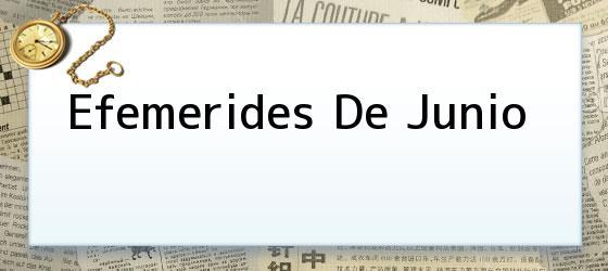 Efemerides De Junio
