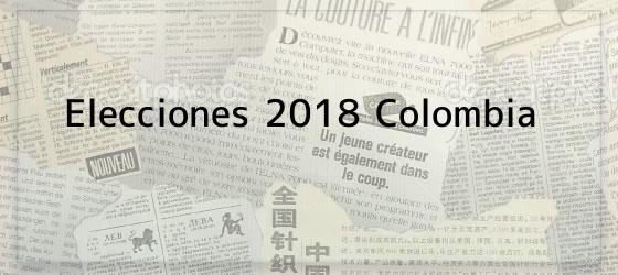 Elecciones 2018 Colombia