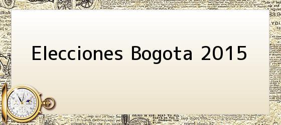 Elecciones Bogota 2015