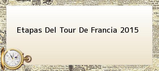 Etapas Del Tour De Francia 2015