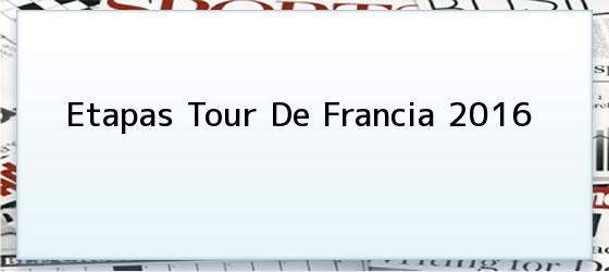 Etapas Tour De Francia 2016