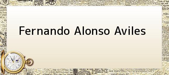 Fernando Alonso Aviles