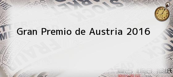 Gran Premio de Austria 2016