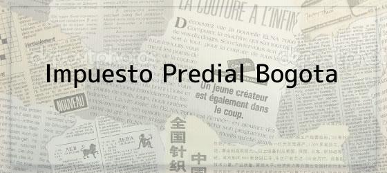 Impuesto Predial Bogota