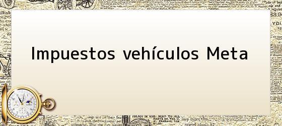 Impuestos vehículos Meta