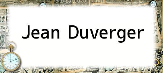 Jean Duverger