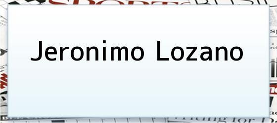 Jeronimo Lozano