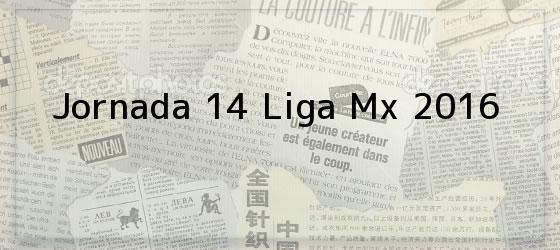 Jornada 14 Liga Mx 2016