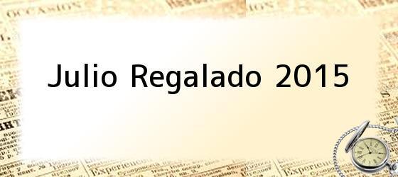 Julio Regalado 2015