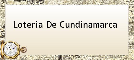Loteria De Cundinamarca